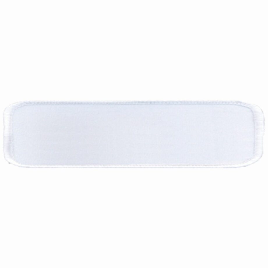 """Rectangular-Patch-1""""x4""""-White-with-White"""