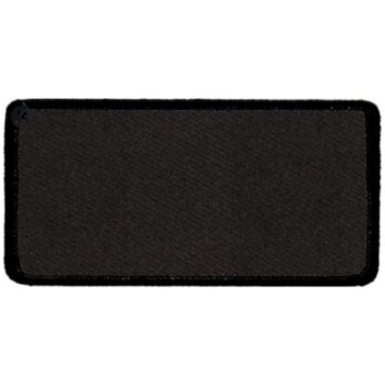 "Rectangular-Patch-1-5/8""x3-5/8""-Black-with-Black"