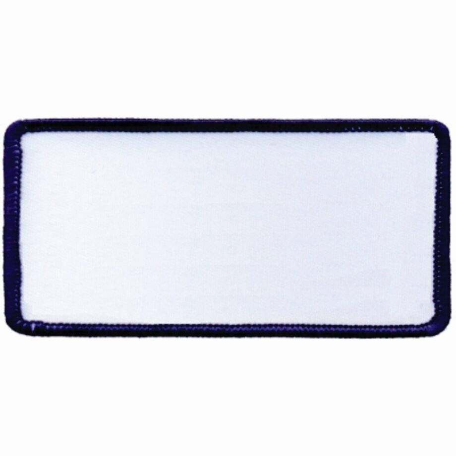 "Rectangular-Patch-1-5/8""x3-5/8""-White-with-Navy"