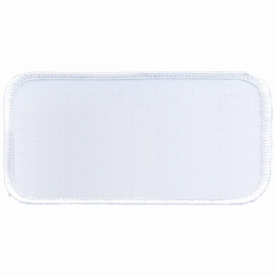"Rectangular-Patch-1-5/8""x3-5/8""-White-with-White"