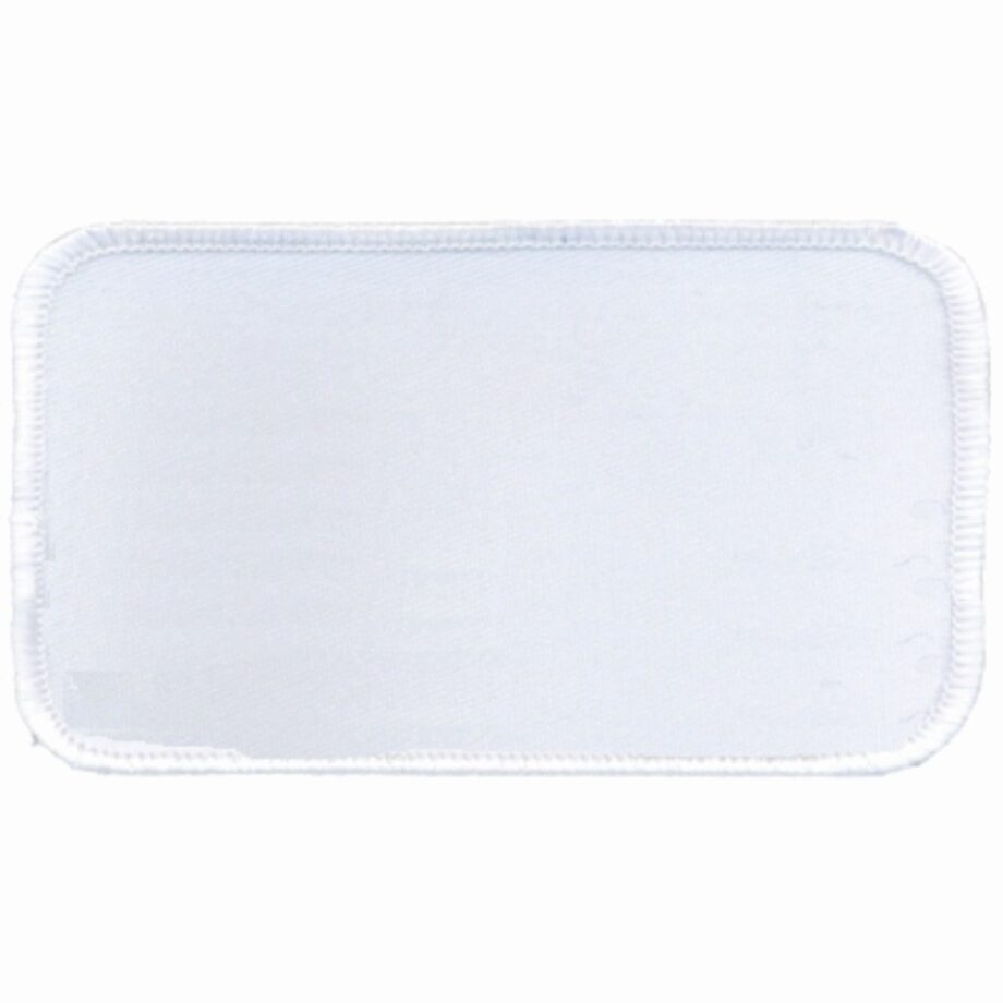 "Rectangular-Patch-2-1/2""x4-1/2""-White-with-White"