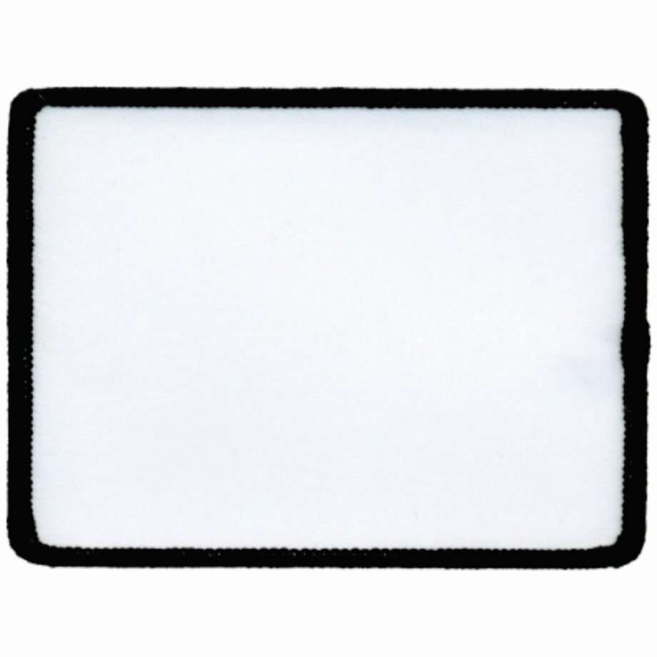 "Rectangular-Patch-3""x4""-White-with-Black"
