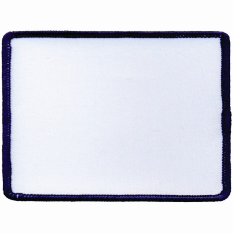 "Rectangular-Patch-3""x4""-White-with-Navy"