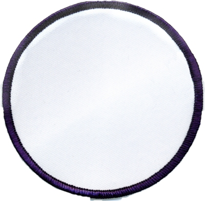 """Circle-Patch-3-1/2""""-White-with-Navy"""