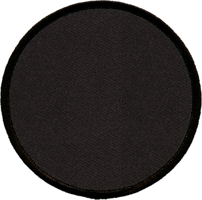 """Circle-Patch-4""""-Black-with-Black"""