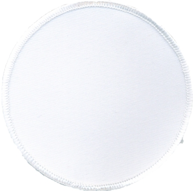 """Circle-Patch-4""""-White-with-White"""