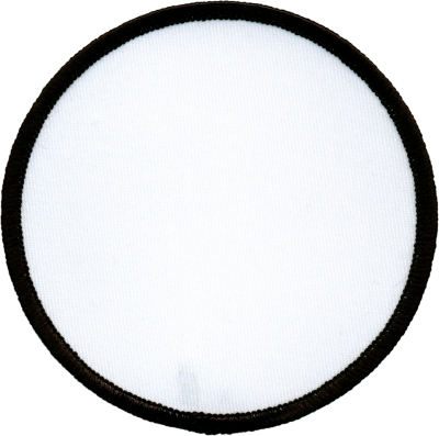 """Circle-Patch-5""""-White-with-Black"""
