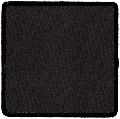"""Square-Patch-3-1/2""""x3-1/2""""-Black-with-Black"""