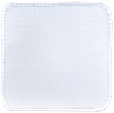 """Square-Patch-3-1/2""""x3-1/2""""-White-with-White"""