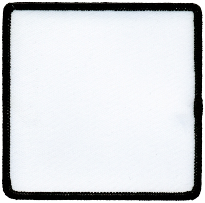 """Square-Patch-4""""x4""""-White-with-Black"""