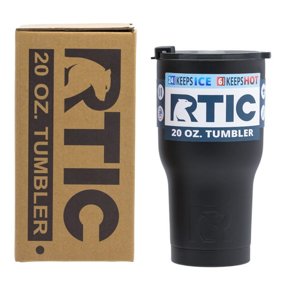 RTIC 20oz Tumbler - BLACK